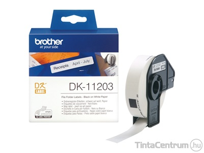 Brother DK-11203 (17mm x 87mm, 300db) eredeti etikett
