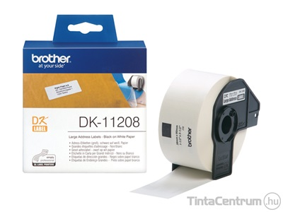 Brother DK-11208 (38mm x 90mm, 400db) eredeti etikett