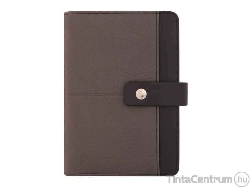 90948f6945 Gyűrűs kalendárium betétlapokkal, M226, 134x186mm, műbőr, SATURNUS,  szürke-fekete ...