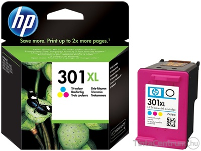 HP 301 XL (CH564EE) (CMY) eredeti tintapatron