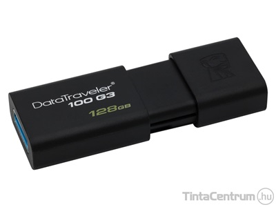 "KINGSTON pendrive, 128GB, USB 3.0, ""DT100 G3"", fekete"