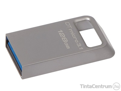 "KINGSTON pendrive, 128GB, USB 3.1, ""DT Micro"", ezüst"